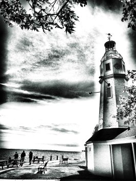 Lighthouse bw